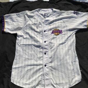 6cd864e7c55 STARTER Shirts - NBA Los Angeles Lakers starter baseball jersey